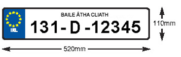 Image of acceptable post 2012 number plate format